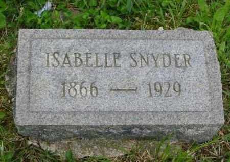 HOOVER SNYDER, ISABELLE - Gallia County, Ohio | ISABELLE HOOVER SNYDER - Ohio Gravestone Photos