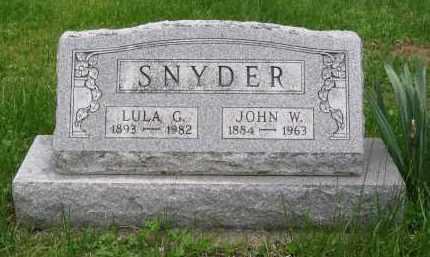 SNYDER, JOHN W. - Gallia County, Ohio | JOHN W. SNYDER - Ohio Gravestone Photos