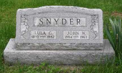 SNYDER, LULA G. - Gallia County, Ohio | LULA G. SNYDER - Ohio Gravestone Photos