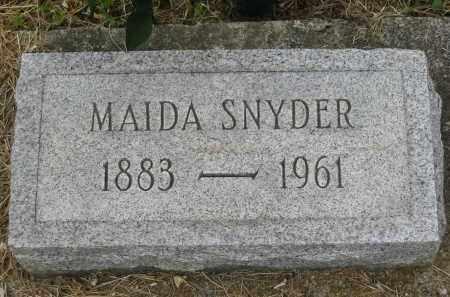 SNYDER, MAIDA - Gallia County, Ohio | MAIDA SNYDER - Ohio Gravestone Photos