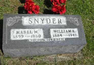 SNYDER, MABEL M. - Gallia County, Ohio | MABEL M. SNYDER - Ohio Gravestone Photos
