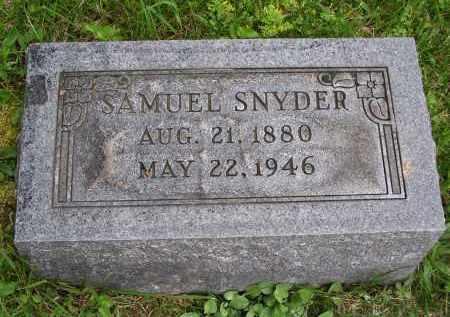 SNYDER, SAMUEL - Gallia County, Ohio | SAMUEL SNYDER - Ohio Gravestone Photos