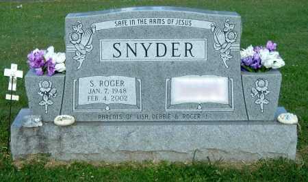 SNYDER, S ROGER - Gallia County, Ohio   S ROGER SNYDER - Ohio Gravestone Photos
