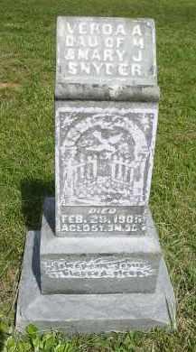 SNYDER, VERDA A. - Gallia County, Ohio   VERDA A. SNYDER - Ohio Gravestone Photos