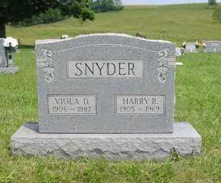 SNYDER, HARRY RAYMOND - Gallia County, Ohio | HARRY RAYMOND SNYDER - Ohio Gravestone Photos