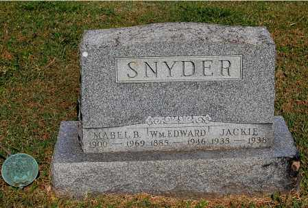 SNYDER, JACKIE - Gallia County, Ohio | JACKIE SNYDER - Ohio Gravestone Photos