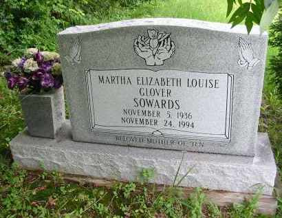 GLOVER SOWARDS, MARTHA E. L. - Gallia County, Ohio | MARTHA E. L. GLOVER SOWARDS - Ohio Gravestone Photos