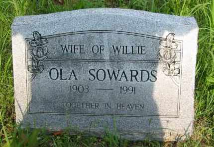 SOWARDS, OLA - Gallia County, Ohio | OLA SOWARDS - Ohio Gravestone Photos