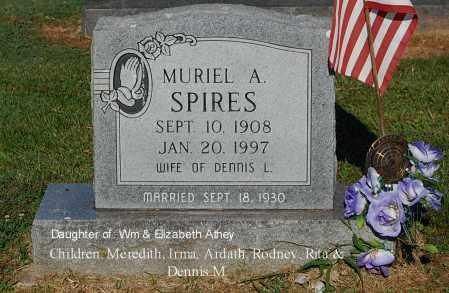 SPIRES, MURIEL A - Gallia County, Ohio | MURIEL A SPIRES - Ohio Gravestone Photos