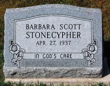 SCOTT STONECYPHER, BARBARA - Gallia County, Ohio | BARBARA SCOTT STONECYPHER - Ohio Gravestone Photos