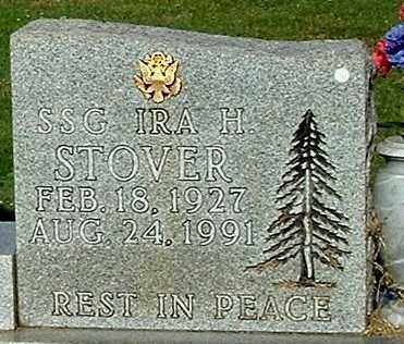 STOVER, IRA H (CLOSE-UP) - Gallia County, Ohio   IRA H (CLOSE-UP) STOVER - Ohio Gravestone Photos