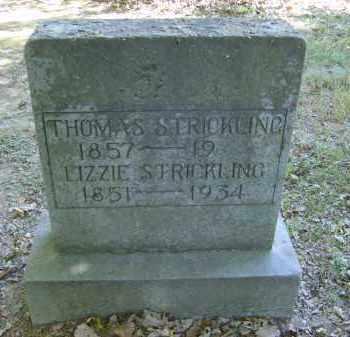 STRICKLING, THOMAS - Gallia County, Ohio | THOMAS STRICKLING - Ohio Gravestone Photos