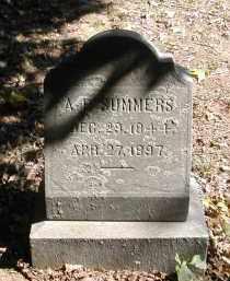 SUMMERS, A. - Gallia County, Ohio | A. SUMMERS - Ohio Gravestone Photos