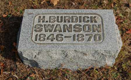 SWANSON, H. BURDICK - Gallia County, Ohio | H. BURDICK SWANSON - Ohio Gravestone Photos