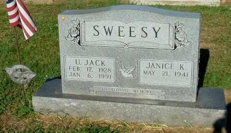 SWEESY, ULRICK JACK - Gallia County, Ohio | ULRICK JACK SWEESY - Ohio Gravestone Photos