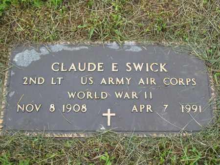 SWICK, CLAUDE E. - Gallia County, Ohio | CLAUDE E. SWICK - Ohio Gravestone Photos