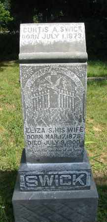 SWICK, ELIZA S. - Gallia County, Ohio   ELIZA S. SWICK - Ohio Gravestone Photos