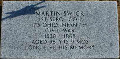 SWICK, MARTIN - Gallia County, Ohio   MARTIN SWICK - Ohio Gravestone Photos