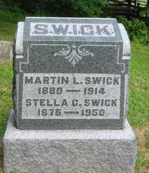 SWICK, MARTIN L. - Gallia County, Ohio | MARTIN L. SWICK - Ohio Gravestone Photos