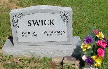 SWICK, W.DORMAN - Gallia County, Ohio | W.DORMAN SWICK - Ohio Gravestone Photos