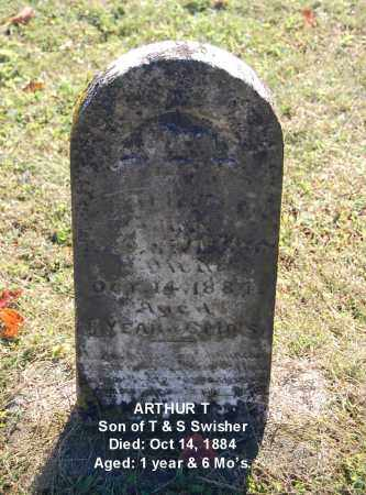 SWISHER, ARTHUR T - Gallia County, Ohio | ARTHUR T SWISHER - Ohio Gravestone Photos