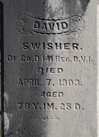 SWISHER, DAVID (CLOSE-UP) - Gallia County, Ohio | DAVID (CLOSE-UP) SWISHER - Ohio Gravestone Photos