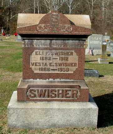 SWISHER, ELI F - Gallia County, Ohio | ELI F SWISHER - Ohio Gravestone Photos