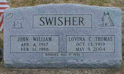 THOMAS SWISHER, LOVINA - Gallia County, Ohio | LOVINA THOMAS SWISHER - Ohio Gravestone Photos