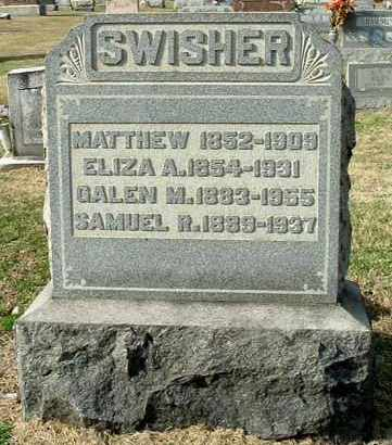 MATHEWS SWISHER, ELIZA A - Gallia County, Ohio | ELIZA A MATHEWS SWISHER - Ohio Gravestone Photos