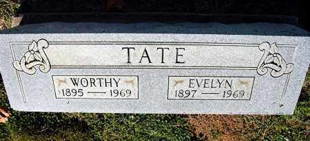 TATE, EVELYN - Gallia County, Ohio | EVELYN TATE - Ohio Gravestone Photos