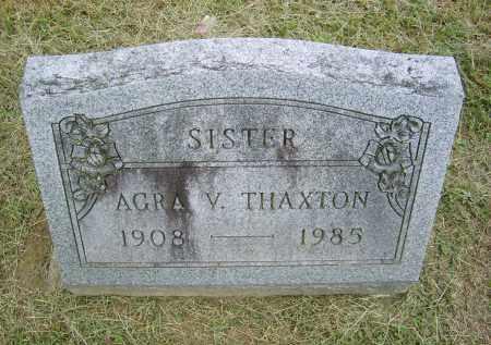 THAXTON, AGRA - Gallia County, Ohio | AGRA THAXTON - Ohio Gravestone Photos