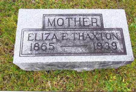 THAXTON, ELIZA E. - Gallia County, Ohio | ELIZA E. THAXTON - Ohio Gravestone Photos