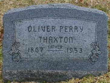 THAXTON, OLIVER - Gallia County, Ohio   OLIVER THAXTON - Ohio Gravestone Photos