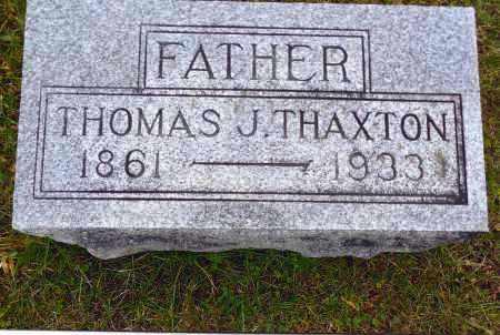 THAXTON, THOMAS J. - Gallia County, Ohio   THOMAS J. THAXTON - Ohio Gravestone Photos