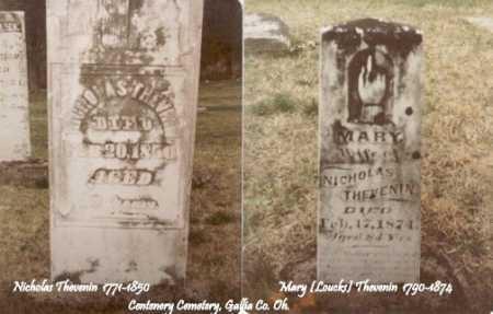 LOUCKS THEVENIN, MARY - Gallia County, Ohio | MARY LOUCKS THEVENIN - Ohio Gravestone Photos