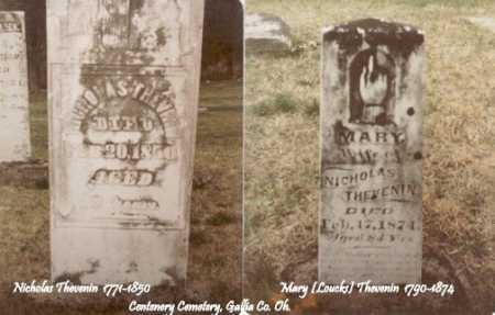 THEVENIN, MARY - Gallia County, Ohio   MARY THEVENIN - Ohio Gravestone Photos