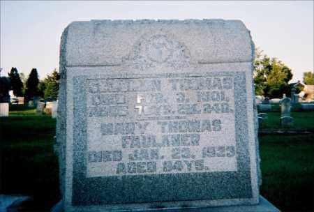 (DANIELS) THOMAS FAULKNER, MARY E - Gallia County, Ohio   MARY E (DANIELS) THOMAS FAULKNER - Ohio Gravestone Photos
