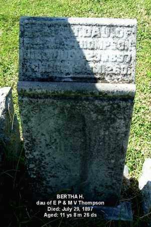 THOMPSON, BERTHA H - Gallia County, Ohio   BERTHA H THOMPSON - Ohio Gravestone Photos