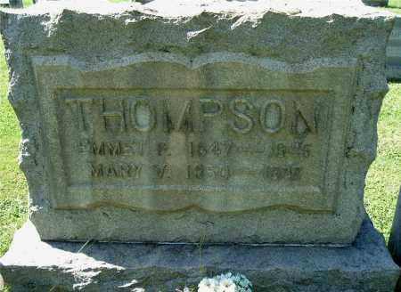 HALEY THOMPSON, MARY V - Gallia County, Ohio | MARY V HALEY THOMPSON - Ohio Gravestone Photos