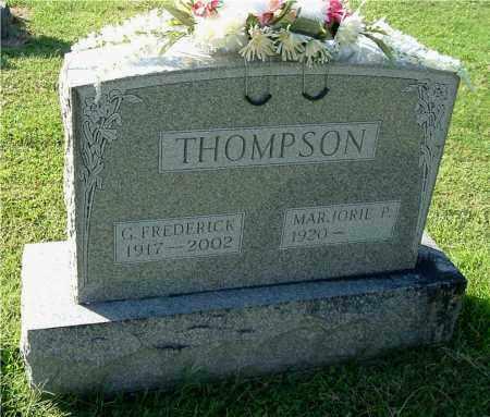 THOMPSON, G. FREDERICK - Gallia County, Ohio   G. FREDERICK THOMPSON - Ohio Gravestone Photos