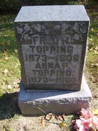 TOPPING, FRED - Gallia County, Ohio | FRED TOPPING - Ohio Gravestone Photos