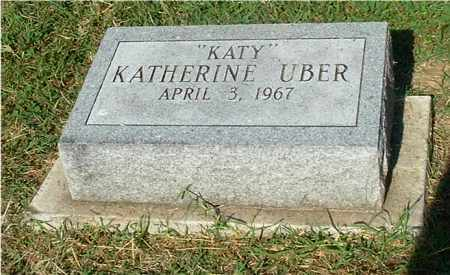 "UBER, KATHERINE ""KATY"" - Gallia County, Ohio | KATHERINE ""KATY"" UBER - Ohio Gravestone Photos"