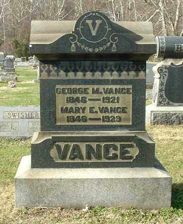 VANCE VANCE, MARY E - Gallia County, Ohio | MARY E VANCE VANCE - Ohio Gravestone Photos