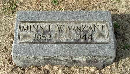 WATSON VANZANT, MINNIE W - Gallia County, Ohio   MINNIE W WATSON VANZANT - Ohio Gravestone Photos