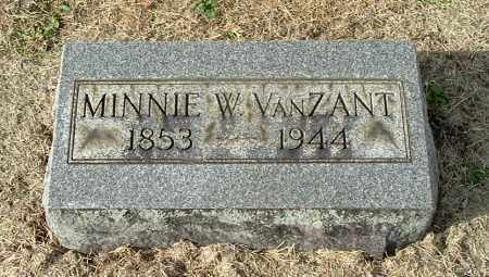 VANZANT, MINNIE W - Gallia County, Ohio | MINNIE W VANZANT - Ohio Gravestone Photos