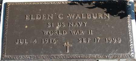 WALBURN, ELDEN C - Gallia County, Ohio   ELDEN C WALBURN - Ohio Gravestone Photos