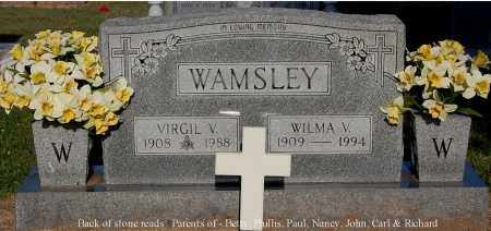 WAMSLEY, WILMA V - Gallia County, Ohio   WILMA V WAMSLEY - Ohio Gravestone Photos