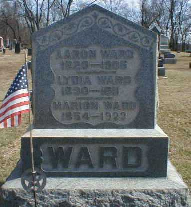 WARD, LYDIA - Gallia County, Ohio | LYDIA WARD - Ohio Gravestone Photos