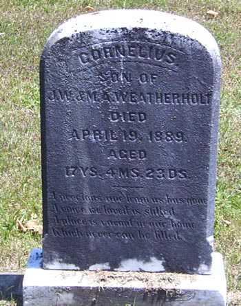 WEATHERHOLT, CORNELIUS - Gallia County, Ohio   CORNELIUS WEATHERHOLT - Ohio Gravestone Photos