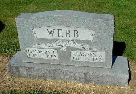 WEBB, ULYSSES S - Gallia County, Ohio | ULYSSES S WEBB - Ohio Gravestone Photos